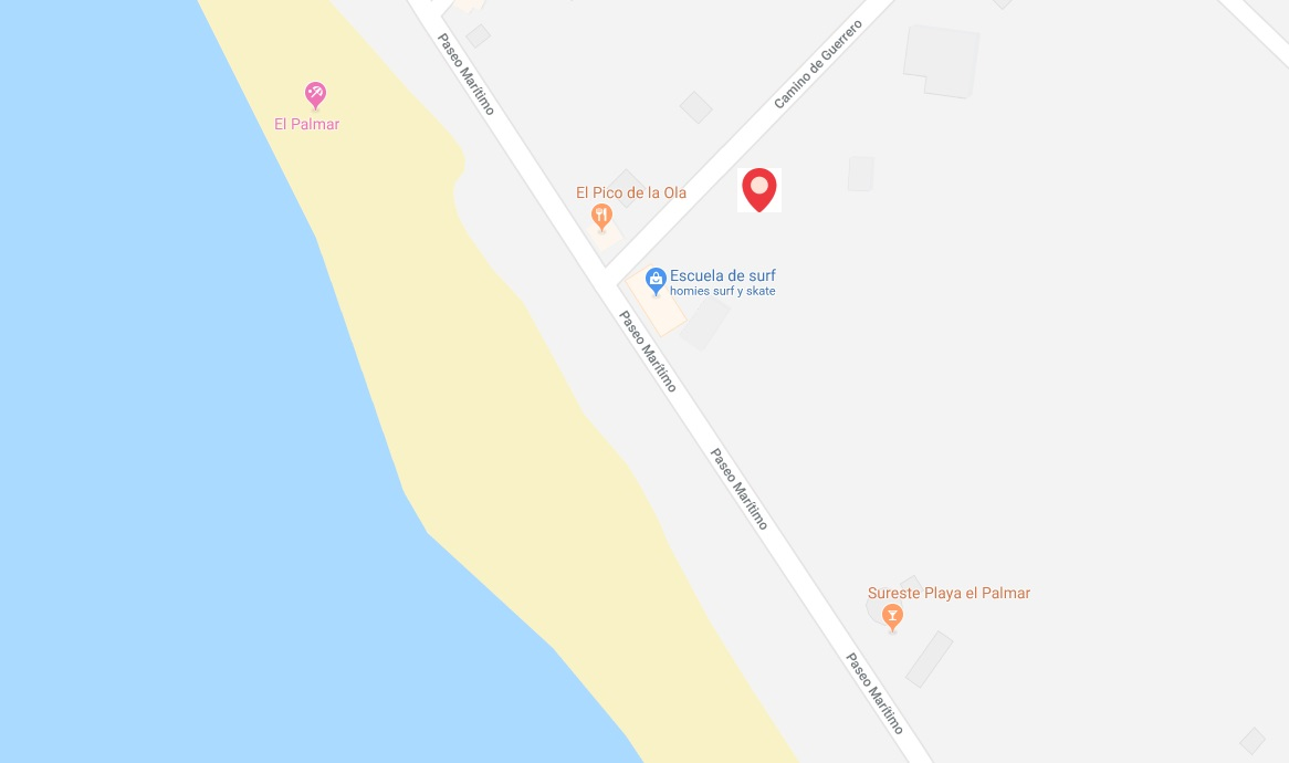 mapa localizacion homies surf house